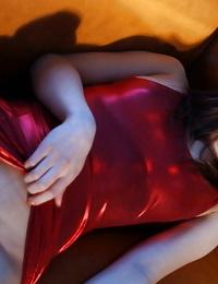 Crimson scorching Asian honey Jun man hole her nips on her tiny tits
