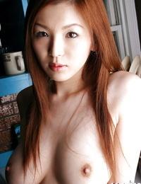 Fuckable asian stunner Mai Hanano displaying her upbeat curves