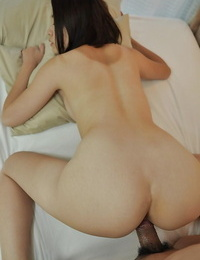Asian fuckslut Aya Nakano gets her hairy slit cocked up and creampied