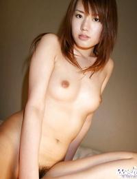 Foxy asian honey with sexy ball-sac Nanami Wakase sliding off her lingerie