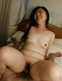 Fatty asian hoe Yasuko Watanabe gets her sadism twat boned-up and creampied