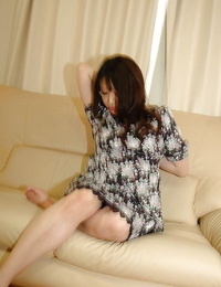Fatty asian MILF strips down and has some beaver vibrating joy