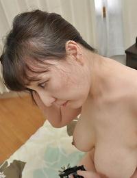 Sensuous asian MILF Kuniko Hara gives a titjob and gets nailed tough