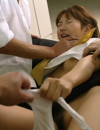 Small asian schoolgirl gets forced by naughty dudes to a rough three way
