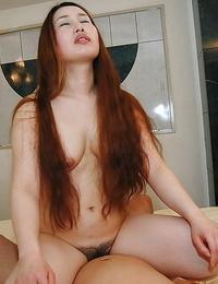 Asian Mummy Ayako Sakuma gets her shaggy vagina cocked up and creampied