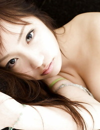 Svelte asian babe Hina Kurumi leisurely getting rid of her clothes