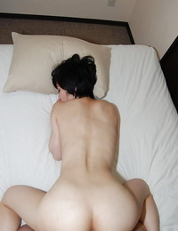 Naughty asian chick Rina Iida gets her hairless vagina gobbled and plugged