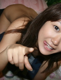 Promiscuous asian schoolgirl with neat fanny gets her sadism beaver cocked up