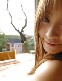 Foxy asian honey with absorbs nut Reon Kosaka disrobing off her clothes