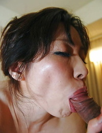 Lusty asian MILF Mayumi Miyazaki gets fucked and takes spunk on her face