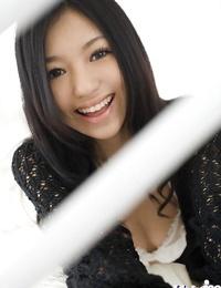 Pretty asian teen vixen Aino Kishi exposing her tiny kinks