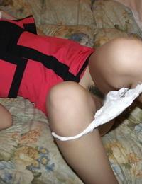 Lusty asian hottie gets her unshaven vagina fucked hard-core