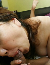 Horny asian Mummy gives a oral pleasure with ball eating and gets shagged hard