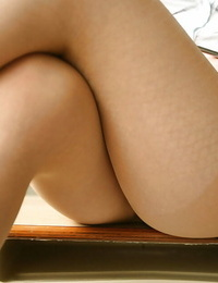 Curvaceous asian babe Rika Kijma unveiling her big mounds and hairy thicket