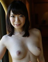 Japanese nymph Nao Mizuki flaunts her inborn boobs in the nude
