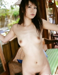 Adorable asian stunner Kurumi Morishita unveiling her tiny curves