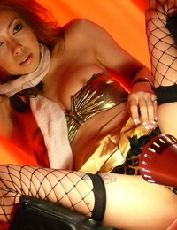 Japanese Nozomi Uehara surprises with blowjob and scorching hook-up in fishnet blossom