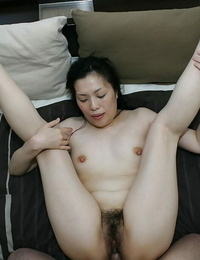 Asian nymph Mari Inui gets her vagina sated with a stiff cock and a vibrator