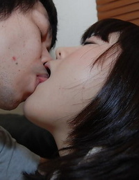 Asian sweetie with lil\' orbs Arisa Maeda gets her vagina ate and shagged
