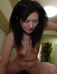 Asian gal Chisato Miura gobbles a stiff cock and gets shafted hardcore