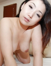 Asian MILF Kaho Itou unclothing and playing with her sex playthings