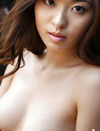 Lovely asian babe Hikaru Koto showcasing her scarcely clothed figure