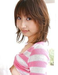 Foxy asian inexperienced Haruka Morimura revealing her nice boobies and neat fanny