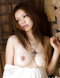 Delicious asian babe Yura Aikawa unveiling her petite forms