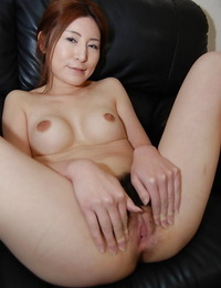 Asian Mummy Chiho Sakurai unclothing and revealing her shaggy cunt