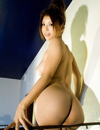 Sweet asian stunner Azumi Harusaki demonstrating her provocative forms