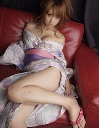 Japanese Yuki Mizuho licks male asshole stroking off his dick at the same time