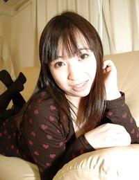 Asian teenage Kanae Sakata has some smooching and vagina stroking fun