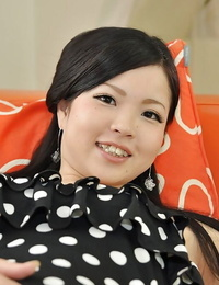 Asian teen Mana Kikuchi taking off her subjugation and playing with her hookup playthings