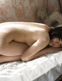 Pretty asian honey with sadism puss China Yuki stripping and posing naked