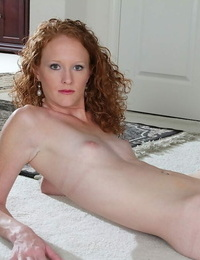 Killer woman Ande is toying with her adorable shaved cunt and small tits