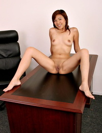 Small Asian amateur revealing small tits and shaved vagina