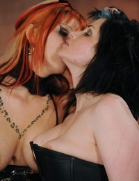 Redhead Mistress eliminates her nymph victim from restrain bondage cage to jerk her
