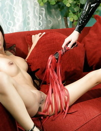 Tempting lesbians Aradia & Kina Kai investigating BDSM enjoyments