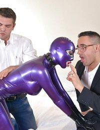 Hot Spandex Lucy gets her bodacious body grabbed and her little cunt fingerblasted