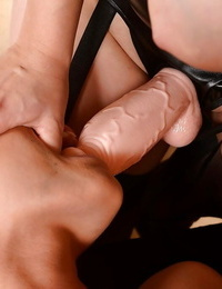Bodacious redhead domme has some BDSM lesbo joy with her girl pet