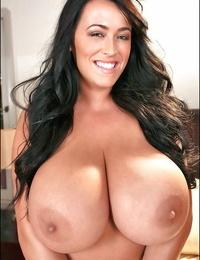 Lesbian girls with huge boobs have some fun featuring Rachel Aldana