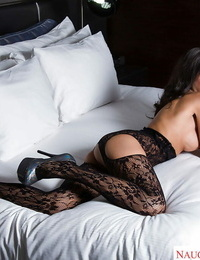 Inviting model Trinity St. Clair taunts by wearing sensuous lingerie
