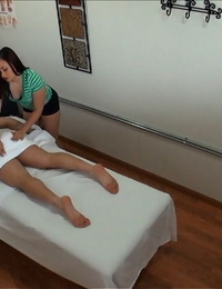Cute asian lady with small boobs Kita Zen gives a rubdown and pounds