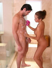 Provocative asian masseuse has some oily joy with her naughty client