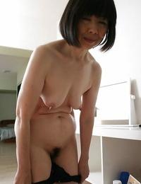 Close up undressing episode features Asian mature Mitsuyo Morita