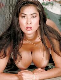 Asian solo honey Minka flaunting fat Mummy boobs and nipples in socks