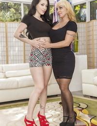 Ravishing sluts Holly Halston and Noelle Easton showcasing off their beavers