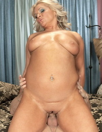 Older woman takes it up her taut pink hole from her junior lover