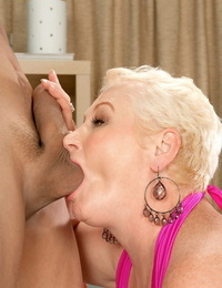 Older girl Miriam Harding takes the ball sac in her gullet before anal invasion aex