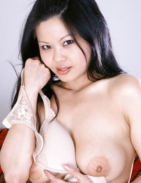 Tongues Asian inexperienced Ayane letting nice inborn hooters free from T-shirt